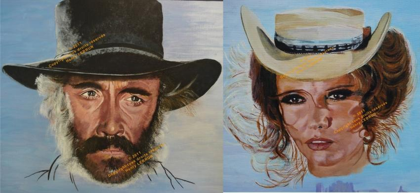 Claudia Cardinale, Jason Robards by lhommeloiret